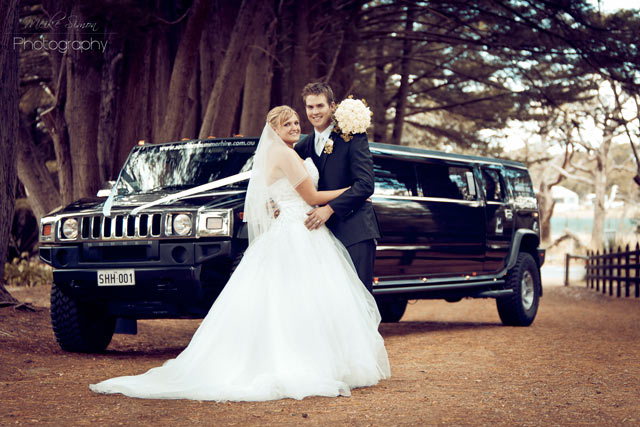 southern hummer hire alanna and matt wedding