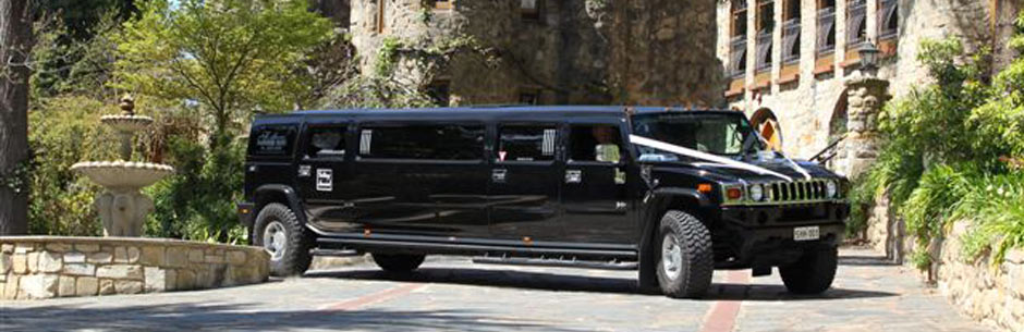 Hummer at a wedding