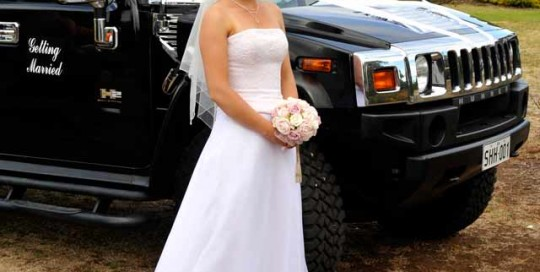 southern hummer hire bride