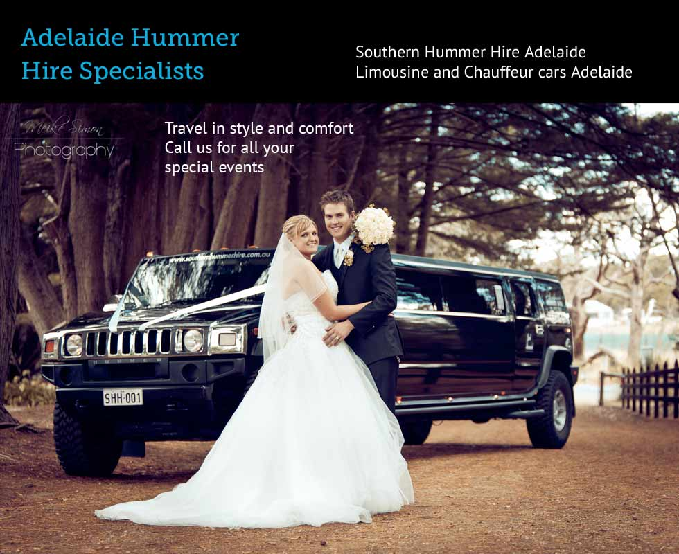 Wedding car hire Adelaide Southern Hummer Hire